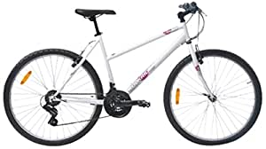 Btwin Rockrider-50 Mountain Bike, Women's Large (White)