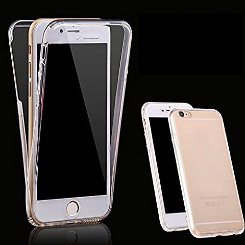 Slim Shockproof 360° Protective Front and Back Full Body Tpu Silicon Gel Case Cover - Slim Strong All Round Protection for iPhone 5/5s,5c & 6/6s Two Piece TPU Silicone Full Body Front and Back Protective Case Cover (iphone 5/5s, Clear)