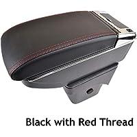 Reposabrazos de piel negra de doble capa para Focus 2 2005 - 2011 MK2, consola