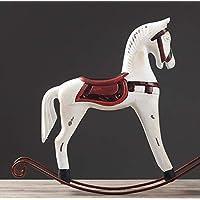 Cavallo A Dondolo Artigianale.Amazon It Cavallo Dondolo Legno Legno Decorazioni Per