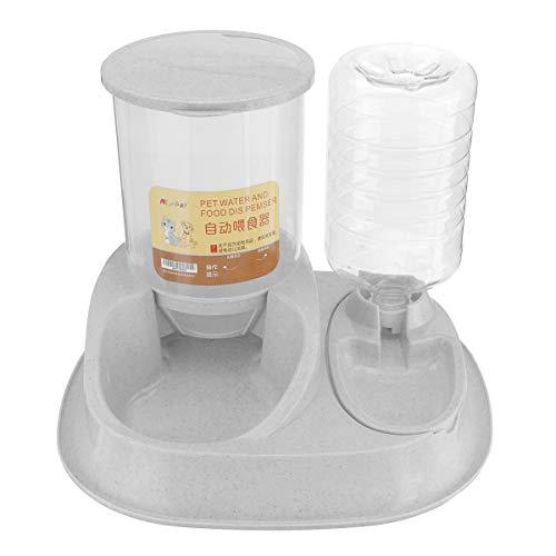 ChaRLes Große Kapazität Pet Automatische Lebensmittel Feeder Wasser Angepasst Äußere Feeder Pet Dog Bowl Automatische Waterer - Grau