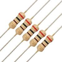 sourcingmap® 50 x Resistori 200 ohm Ohm 1/4W 250V 5%