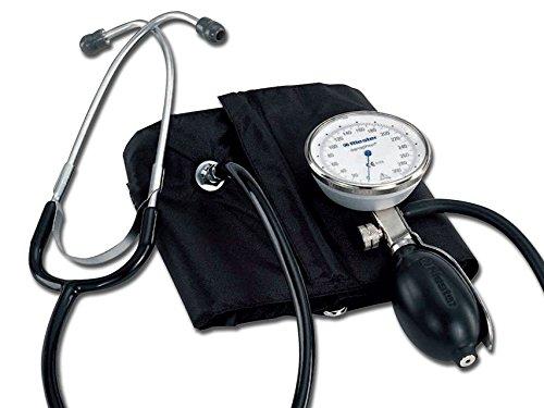 Profi-blutdruckmessgerät (Riester 1442 Einhand-Blutdruckmessgerät, sanaphon mit Stethoskop, Bügel-Klettenmanschette, Erwachsene)
