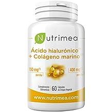 Colágeno Marino Hidrolizado Acido Hialuronico Suplemento Articulaciones, Huesos y Reforzar Defensas Antiedad Reduce Arrugas Líneas