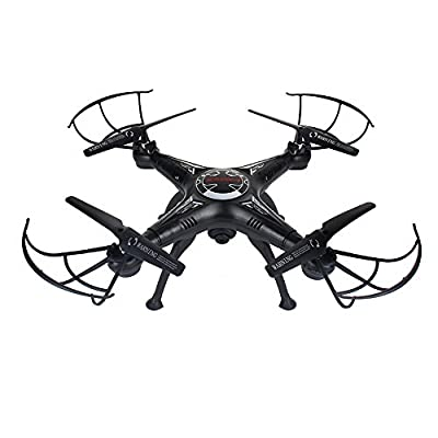 RC Quadcopter, X5SW-1 FPV RC 2.4G Quadcopter Drone Wifi Camera RTF Training Quadcopter for Beginners Long Flight Time Altitude Hold 3D Flips Headless Mode APP & Transmitter Remote Control, Black