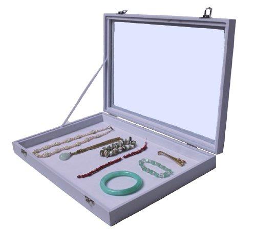 Yudu - Caja de exposición (tapa de vidrio, sin separación), color bl