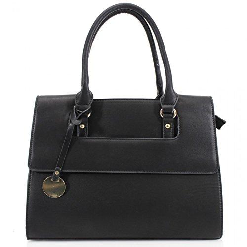 Designer-Handtasche für Damen, Schultertasche fürs Büro schwarz