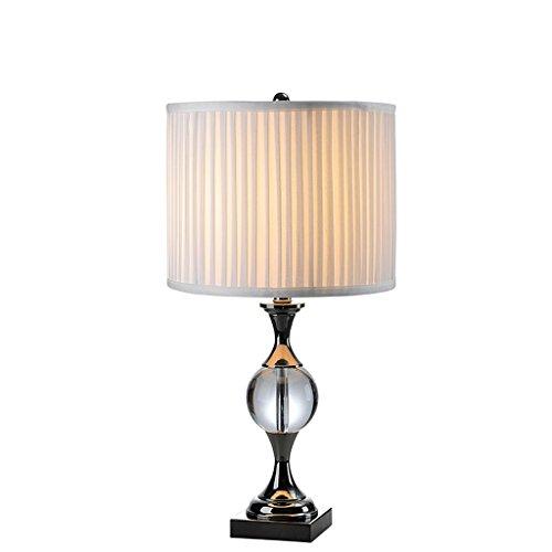 personnalité simple Lampe De Table Style Européen Décoration De Luxe Style Américain Chambre De Cristal Lampe De Chevet Lampe De Table Moderne Simple Creative Fashion (Couleur : Milk White)