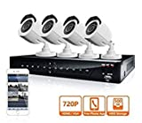 500GB , 720P 8 Channel : LaView 4 HD 720P Camera Security System, 8 Channel 720P HD-TVI DVR w/500GB HDD and 4 720P HD White Bullet Surveillance Camera Kit