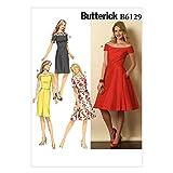 Vogue Patterns 6129 A5 - Cartamodello per abiti da donna, taglie varie dalla 38 alla 46