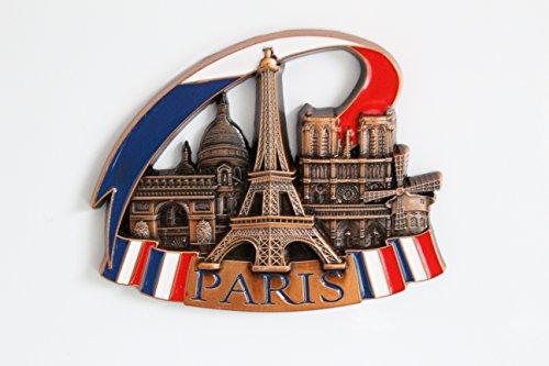 (Metall Kühlschrank Kühlschrank Magnete Home Kitchen Decor NEW YORK CITY Urlaub Souvenir Geschenk Idee, metall, Silver Paris)