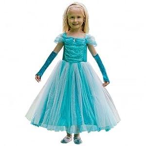 Vestido Amscan TURQUOISE SPARKLE PRINCESS Vestido, Niñas, Color No Sólido, 9-11 Años