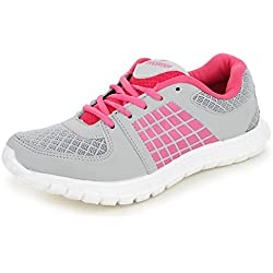 Trase Touchwood Rise Pink / White Women Sports Shoes for Running / Walking / Zumba (Ultra Lightweight Sole ) - 5 IND/UK
