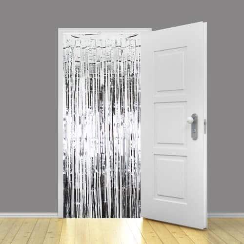 ShinyBeauty Foil Fringe Curtain Backdrop 6x8 Silver