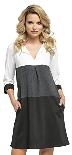 Glamour Empire Women's Jersey Colour Block Shift Dress with Pockets S-2XL. 303