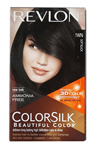 Revlon Colorsilk Hair Color With 3D Color Technology 1Wn (Soft Black)