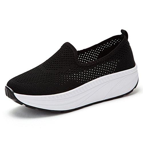 Hishoes Donna Shape-ups Mesh Piattaforma Dimagranti Sportive Scarpe Fitness Fuori Scarpa da Tennis