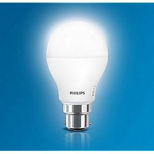 Philips Base B22 9-Watt LED Bulb (Pack of 4, Cool Day Light)