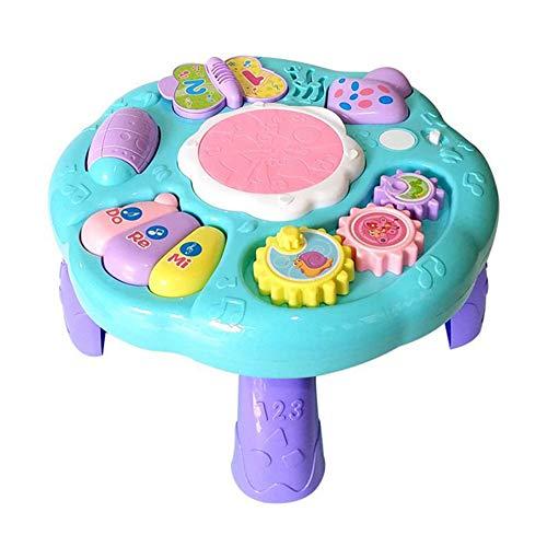ZMH Baby Musikspielzeug Lerntisch Früherziehung Musik Activity Center Spieltisch Kleinkinder Kleinkind Kinderspielzeug Musical Set (Jahr Besten 1 Alt Bildungs-spielzeug)