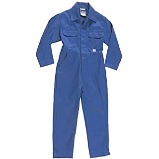 Acce Products Personalised Your Own Text Baby, Childrens, Kids, Coverall, Boilersuit, Overall - Size - 26-5-6 Years - Royal Blue