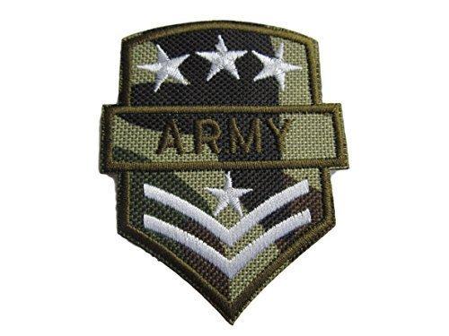 Grün Militär Armee Drei Sterne Ranking zum Aufbügeln Aufnäher gestickte Abzeichen Applikation Motiv Patch von fat-catz-copy-catz (Gestickte Abzeichen)