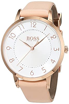 HUGO BOSS Women's Analogue Quartz Watch with Leather Strap - 1502407