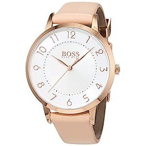 HUGO BOSS Women's Analogue Quartz Watch with Leather Strap – 1502407