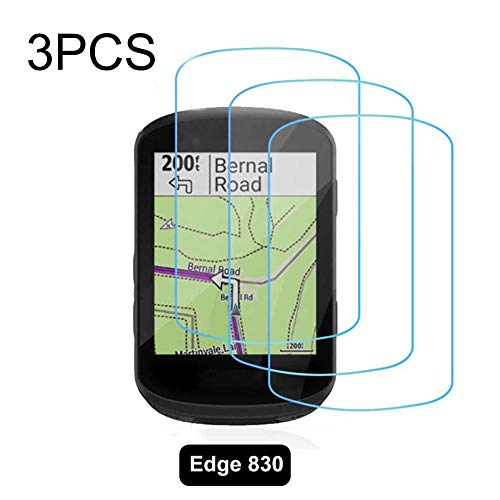 NAKELUCY Displayschutzfolie Touchscreen-Schutzfolie für Garmin Edge 530/830 Hartglas-Displayschutzfolien Invisible Film Screen Protector Guard Cover 3PCS Invisible Screen Protector Guard