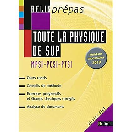 Toute la physique de SUP - MPSI-PCSI-PTSI