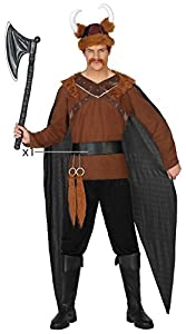 Atosa-38882 Disfraz Vikingo, Color marrón, XS/S (38882