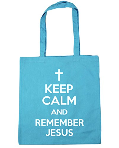 hippowarehouse-keep-calm-and-remember-jesus-tote-shopping-gym-beach-bag-42cm-x38cm-10-litres