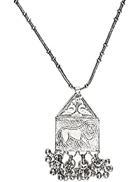 The Indian Handicraft Store Lion Ghungroo Chain Necklace