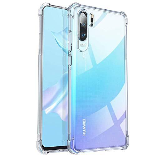 EDRON Hülle für Huawei P30 Pro Case Clear,Transparent TPU Dünn Bumper Schutzhülle [stoßdämpfend, Anti-Gelb] Weiche Silikon Durchsichtige Handyhülle mit Bildschirm & Kamera Schutz - Klar