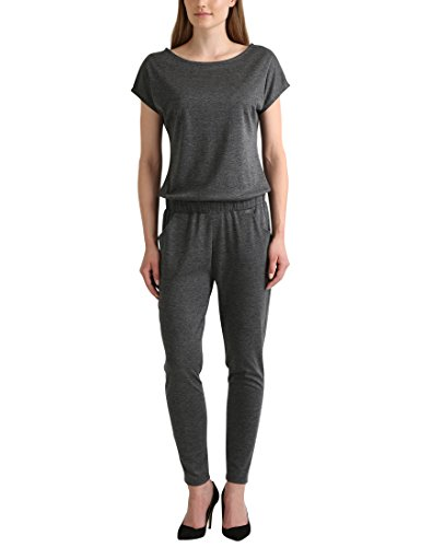 Berydale Damen Jumpsuit mit kurzem Arm, Anthrazit, S