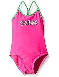 Zoggs Girls' Melon Magic Flyback Swimming Costume