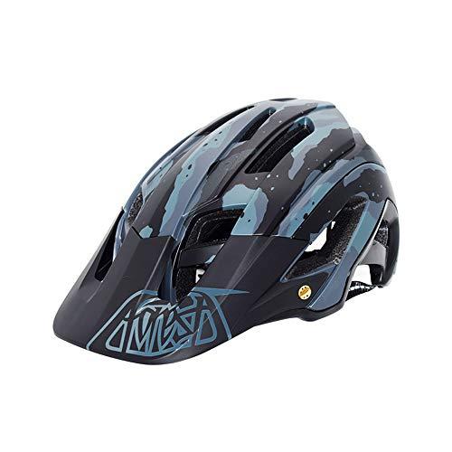 CARACHOME Mountainbike Helm, ultraleichter Erwachsener Fahrrad Helm mit verstellbarem Visier für Radfahren, Outdoor-Sportarten Ski & Snowboard (21,25-24 Zoll),A
