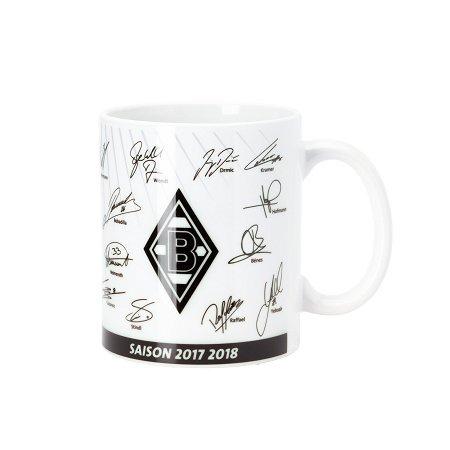 Unbekannt VFL Borussia Mönchengladbach Fohlenelf-Artikel-Tasse Unterschriften-Keramik Kaffee, weiß, One Size