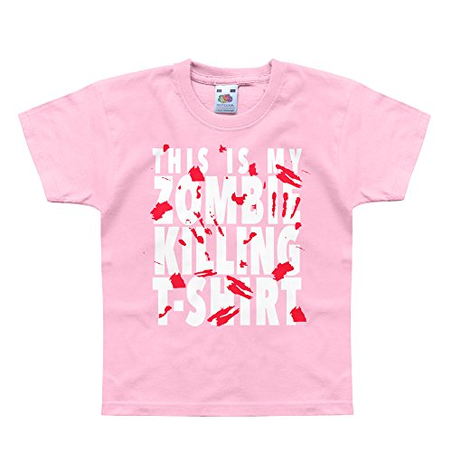 Nutees This Is My Zombie Killing TShirt Halloween Costume Komisch Unisex Kids T Shirts - Licht Rosa 9/11 Years (10 Halloween-witze Top)