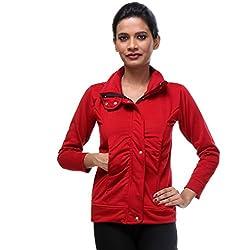 TeeMoods Womens Fleeece Full Sleeves Solid Maroon Sweatshirt/Hoodie