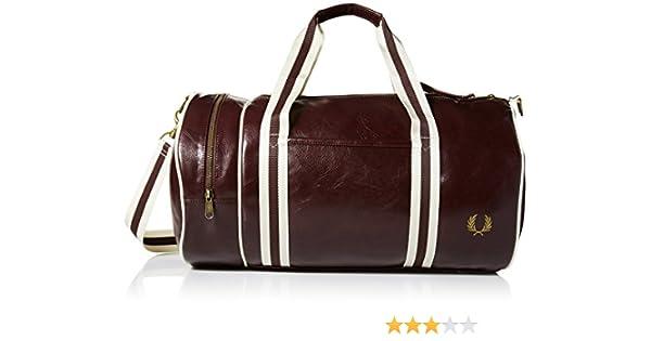 Fred Perry Classic Barrel Bag Marron, Sac bandoulière