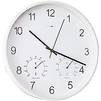 ZTZT Termómetro de 14 Pulgadas e higrómetro Reloj de Pared Digital/Estilo Mudo de la