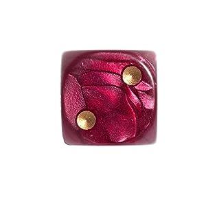 Paquete de 36Dados Philos de 12mm Color Rojo Perlado en una Bolsa de poliéster