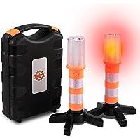 Sailnovo LED Warnleuchte Warnblitzer Orange mit Magnetisch Basis für AUT
