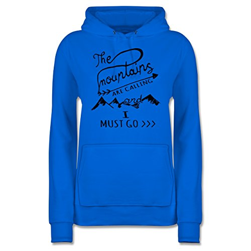 Wintersport - The Mountains Are Calling - S - Himmelblau - JH001F - Damen Hoodie