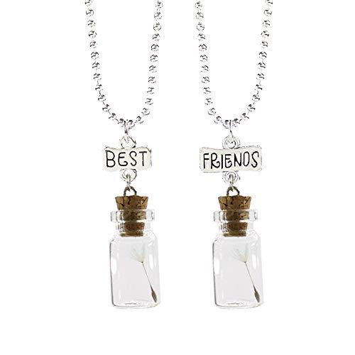 LKJH Halskette2 Stücke Set Anhänger Halsketten Für Kinder Jungen Und Mädchen Beste Freunde Freundschaft Halskette