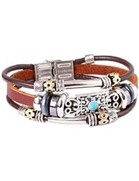 FAIRY COUPLE Leder Zen Armband für Männer, Frauen, Jugendlichen und Mädchen-19cm
