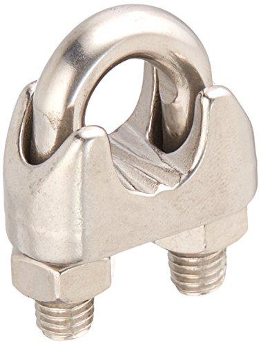 """Preisvergleich Produktbild sourcingmap® 12mm 1/2""""304 Edelstahl Metall Seilklemme Rohr Klemme Kabel Clip silber de"""