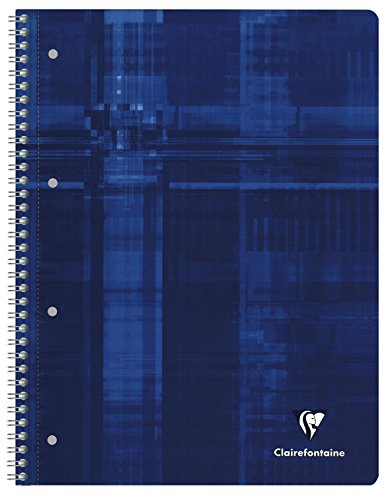 Clairefontaine 8251C Collegeblock (Französische Lineatur (Universallochung), DIN A4,  22,5 x 29,7 cm, 80 Blatt) 1 Stück zufällige farbe