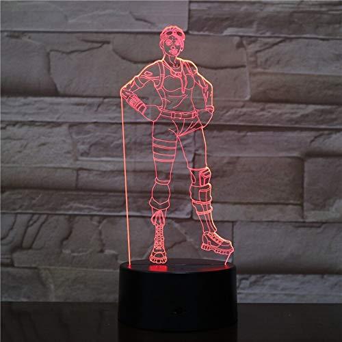 Beliebte Spiele Charaktere 3D LED Nachtlichter Ersatzlichter Halloween Lichter Acryl Illusion Tischlampen Kinder Dekoration Geschenke