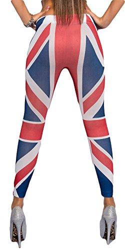 Coole Damen Leggings im UK Style, Einheitsgröße 32-38